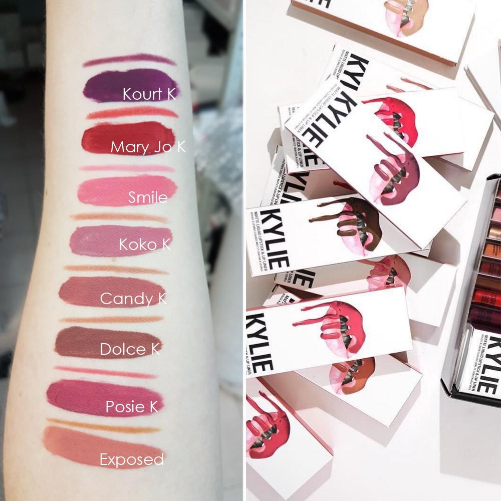 Набор Kylie Lip Kit матовая помада + карандаш для губ