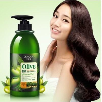 Кондиционер для волос с масло оливы BIOAQUA, 400 мл.