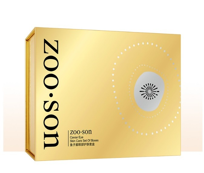 Набор для ухода за кожей вокруг глаз с экстрактом черной икры и частичками золота в коробке ZOO SON