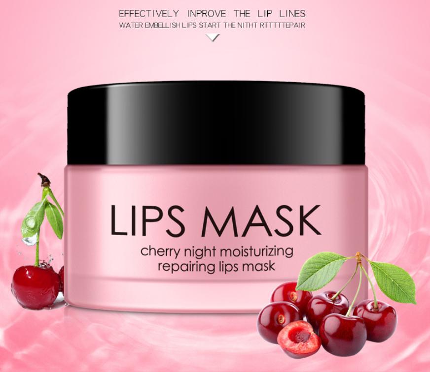Ночная восстанавливающая маска для губ с экстрактом вишни HANKEY, 30 гр.