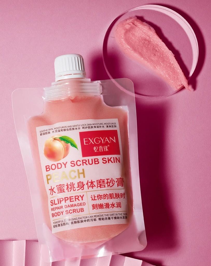 Скраб для тела с экстрактом ПЕРСИКА EXGYAN Body Scrub Peach, 300 гр.
