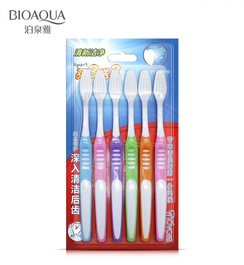Набор зубных щеток для всей семьи BioAqua 6 штук