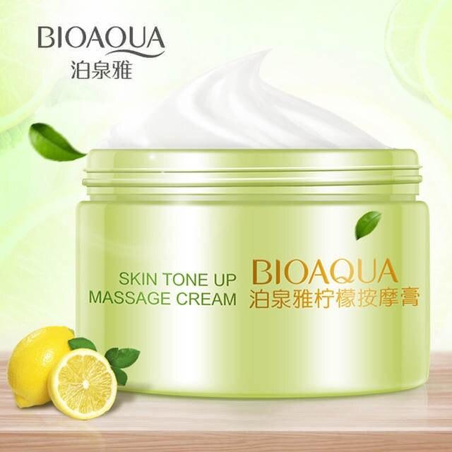 Массажный очищающий крем с экстрактом лимона BioAqua Skin Tone Up Massage Cream, 120 гр.