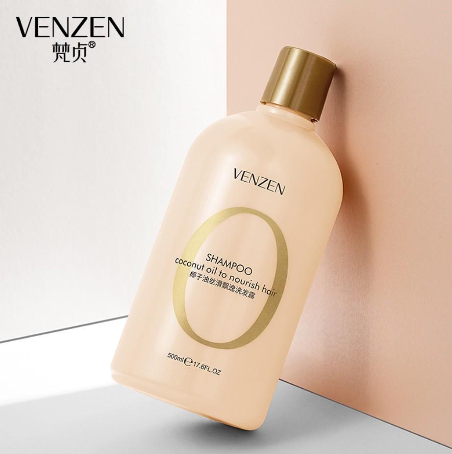 Шампунь для волос питательный с кокосовым маслом VENZEN Coconut Oil To Nourish Hair, 500 мл.