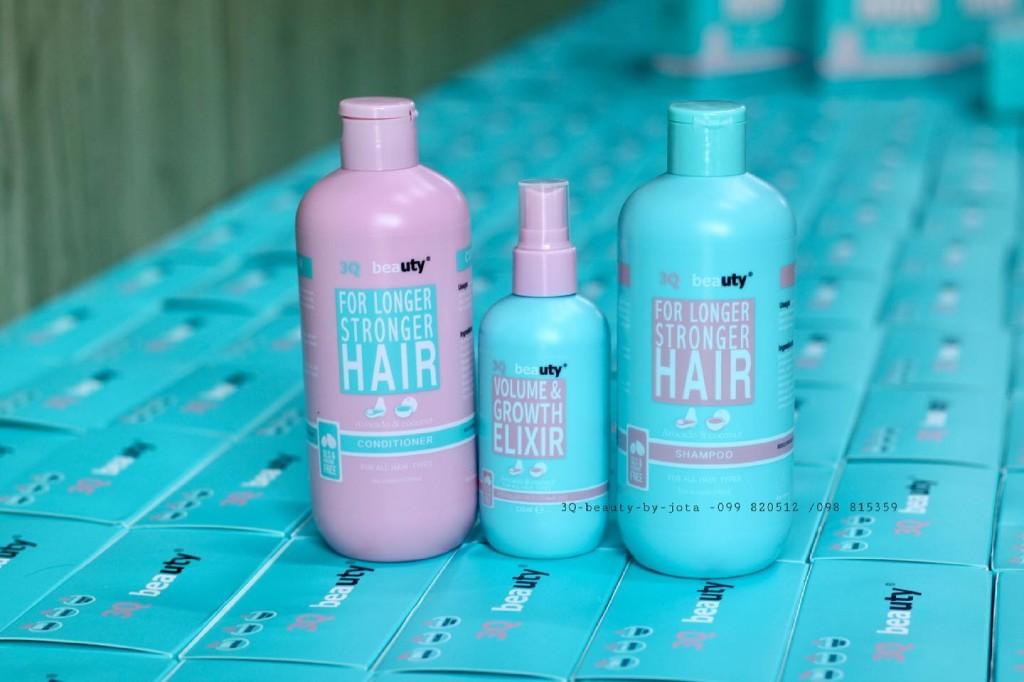 Набор 3 в 1: безсульфатный шампунь + кондиционер + спрей для волос с маслом авокадо и кокоса 3Q BEAUTY, 2 шт. * 350 мл. + 1 шт. * 125 мл.