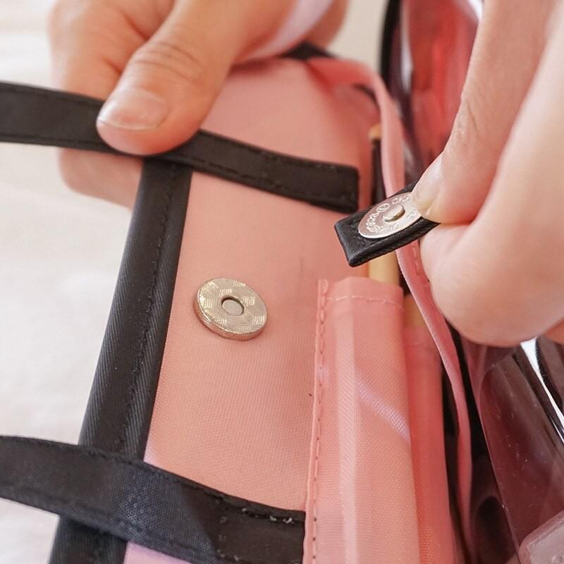 Дорожная косметичка со съемным отделением Travel Bag, 24*6*15 см.
